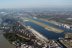 Aerial shot of London City Airport (5)
