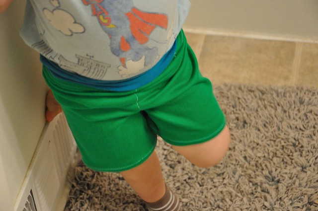 colorblock shorts.