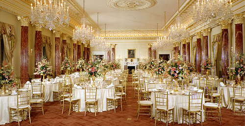 The Benjamin Franklin State Dining Room.