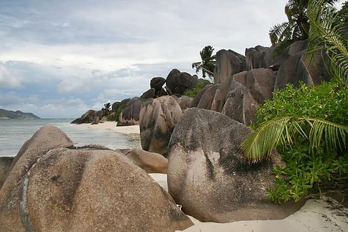 Liduprázdná kráska Anse Source d´Argent na ostrově La Digue
