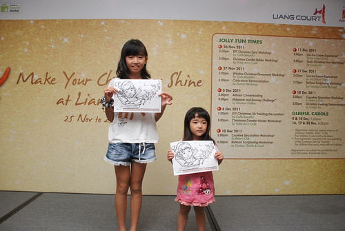 "caricature live sketching for ""Make Your Christmas Shine at Liang Court"" - 10a"