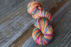 'double pink rainbow' Twinkle Sock