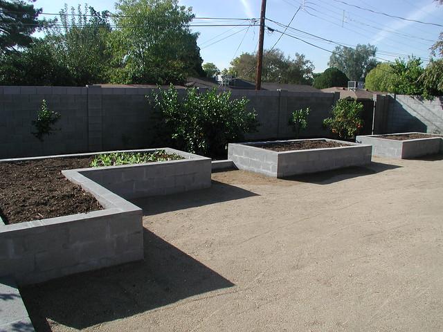 Raised Garden Bed concrete block Flickr Photo Sharing