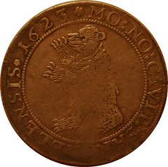 Bear on coin obverse