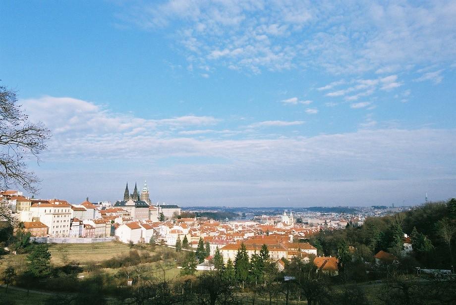 從佩特辛公園望向布拉格城堡