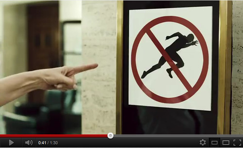 Screenshot from VISA Usain Bolt Ad - no running