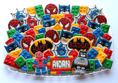 Super Hero Lego Birthday Platter