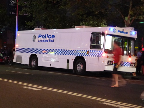 NSW Police Mobile Command Post near drunk and disorderly hotspot
