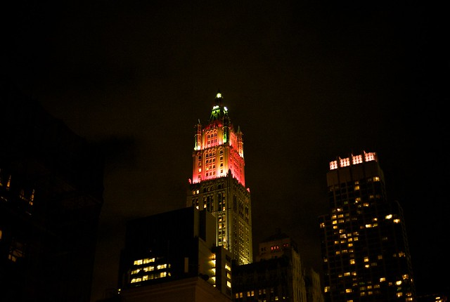 Red/Read - Woolworth Building in red