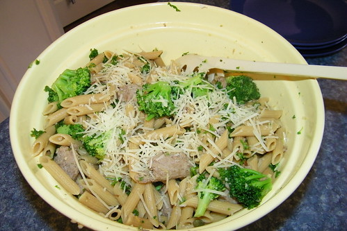 Penne with Broccoli and Turkey Sausage