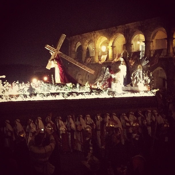 Holy week procession in la Antigua Guatemala.