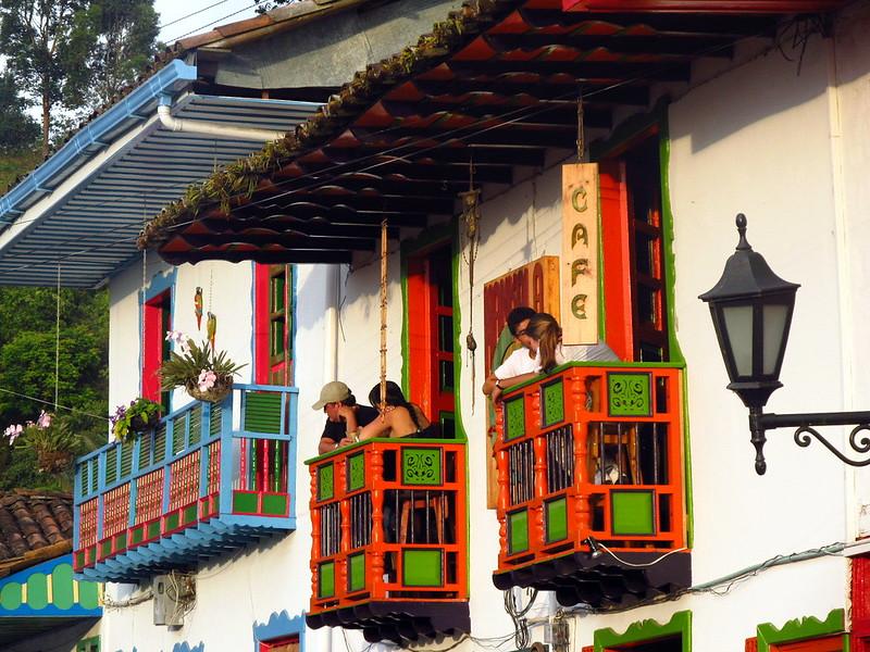 Imagen de los Balcones Típicos en Salento, Quindio
