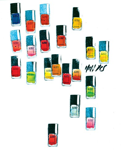 Stamped polishes with concentrated inks 11X14 print