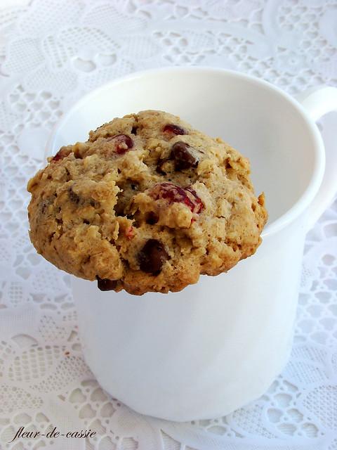 печенье овсяное с вишней  и шоколадом 3