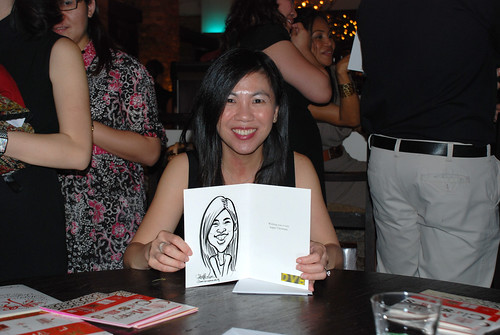 caricature live sketching for DVB Christmas party - 10