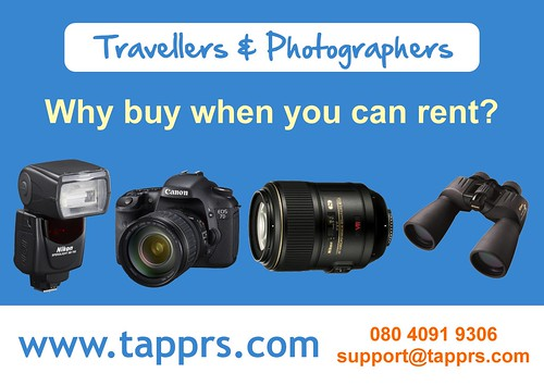 Camera lens rental in Bangalore
