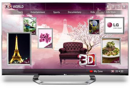 Content from 3D World will be available to LG's CINEMA 3D Smart TV users in nearly 70 countries.