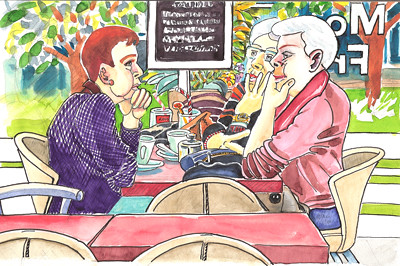 Springtime Café 03 by alain bertin