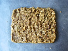 peanut butter oatmeal bars, ready to roll