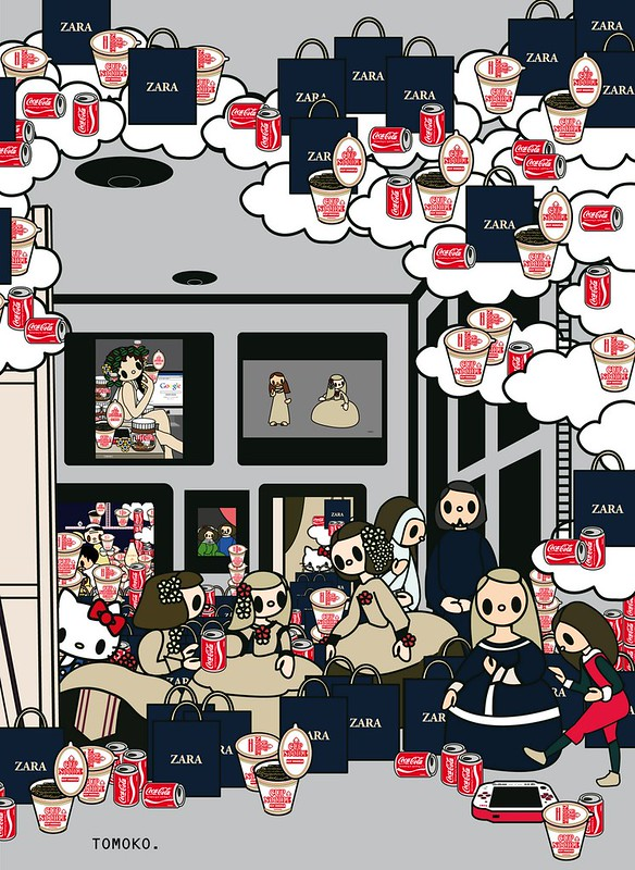 Las Meninas with cocacola,  cupnoodle, zara, kitty and PSP [50%]