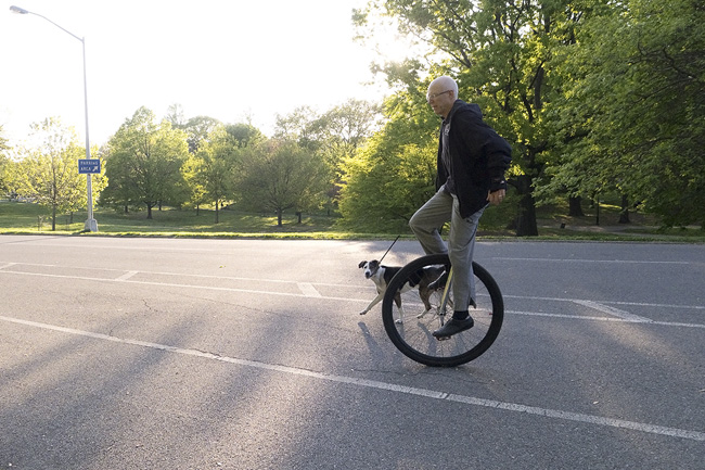 Unicycle, Prospect Park