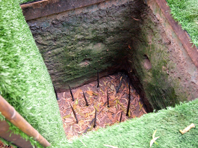 Tiger pit at the Cu Chi Tunnels in Vietnam