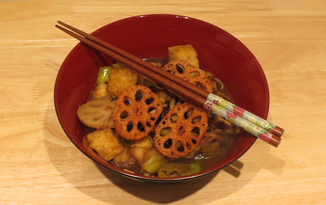 Cooking: Hairy Bikers' Tofu, Aubergine and Lotus Root Stew
