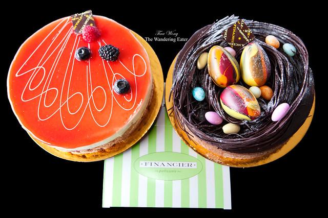 Mascarpone Fraise Cake & Chocolate Egg Nest Cake