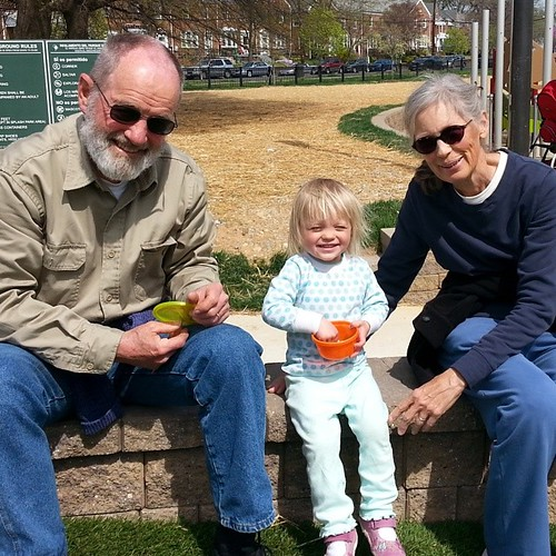 At the playground with Pop Pop and Grandma #365photoproject #day221