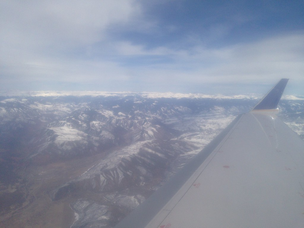 Flying over Aspen