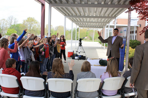"""How many of you like to swim in the creek or fish in the river?"", USDA Rural Utilities Service Administrator John Padalino asked White County Middle School students during the school's Earth Day awards ceremony."
