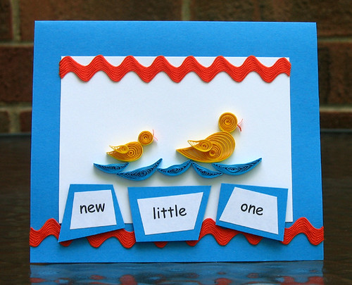 Quilled Baby Card DIY