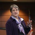 Dr. Helen Binns speaks