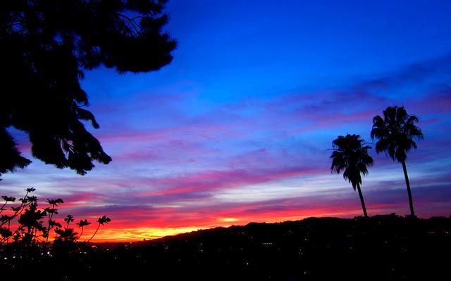 Hollywood Hills Sunset Hollywood Hills Sunset