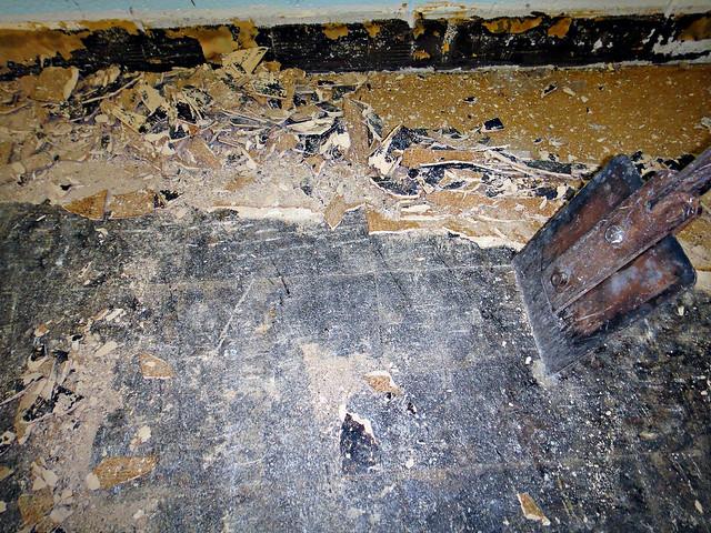 Scraping Asbestos Floor Tile Flickr Photo Sharing