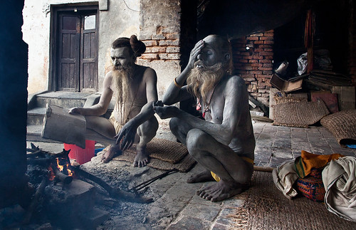 Sadhus, Nepal by Harry Fisch
