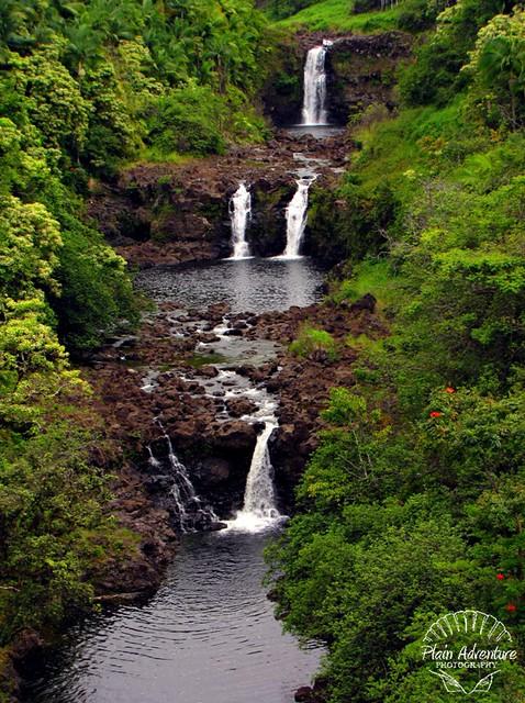 Umauma Falls close up