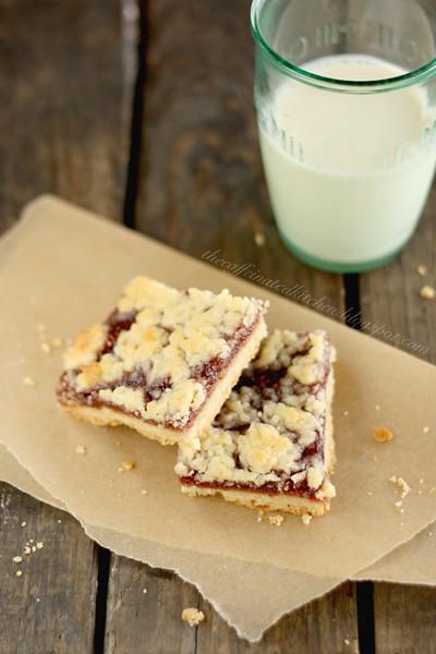 the caffeinated kitchen: Raspberry Crumb Bars