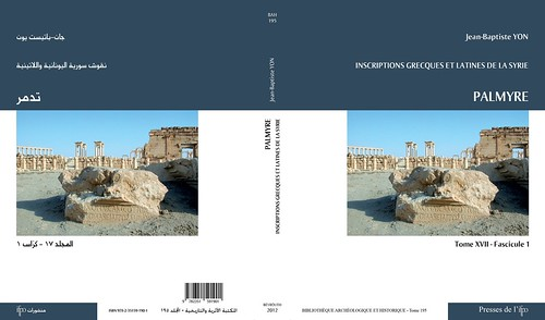Inscription grecques et latines de la Syrie. Tome 17, fasc. 1. Palmyre