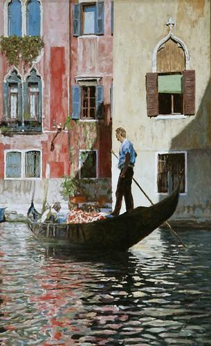 "Venice oil sketch 22½"" x 14"""