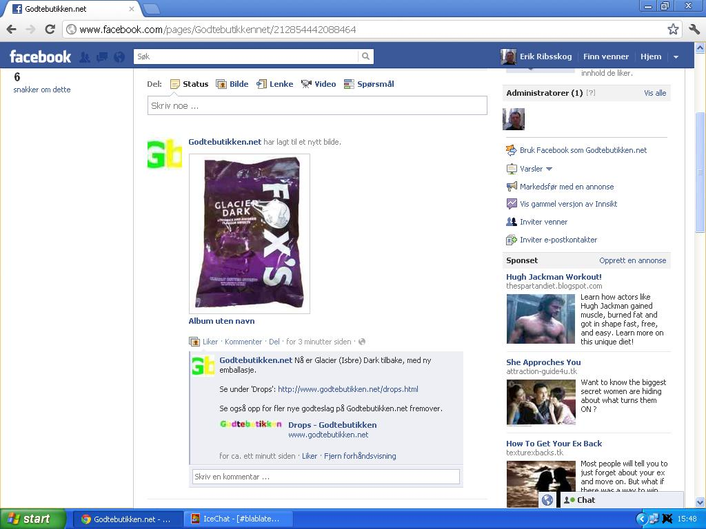 facebook glacier dark