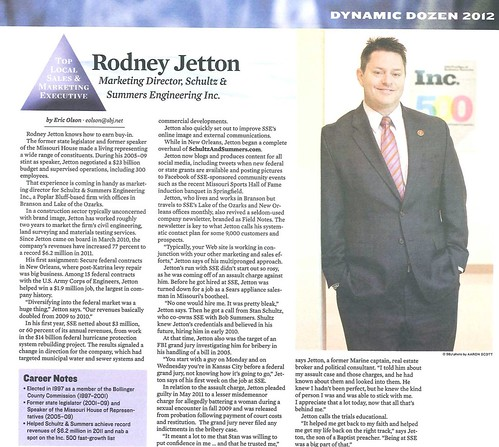 2012 Dynamic Dozen Top Local Sales & Marketing Executive: Rodney Jetton