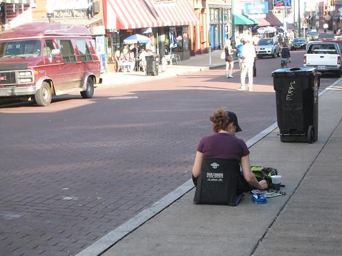artist on Beale Street