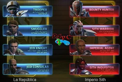 Star Wars The Old Republic clases