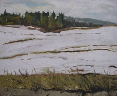 Original oil by Fournier of Eastern Townships, Quebec