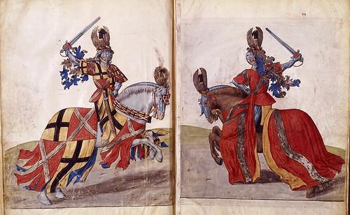 002-Le libre des tournois…1460- René d' Anjou--Français 2692, fol. 2v-3- Justa de Bruges (1392)