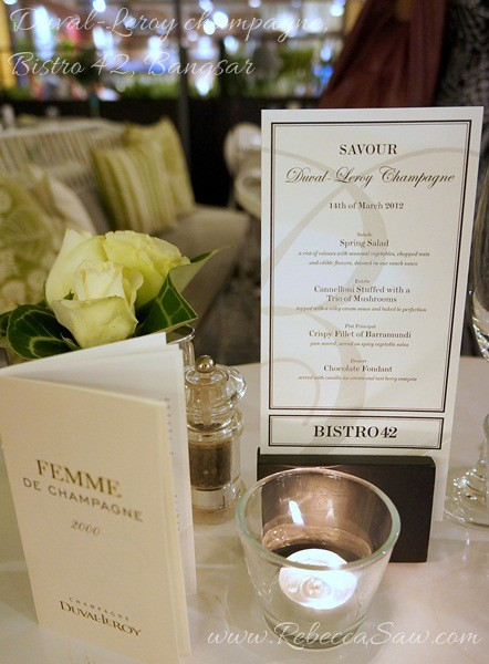 Duval-Leroy champagne, Bistro 42 Bangsar-002