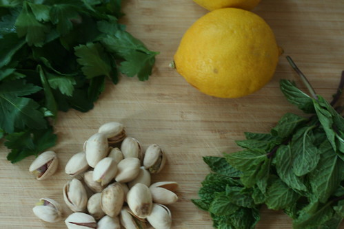 lemon mint pesto