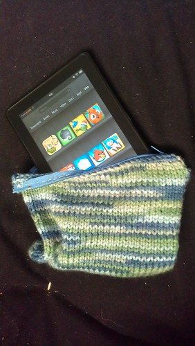 My new soft knitted Kindle Fire case