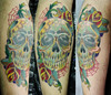 skull and roses SEVERO CLÃ TATTOO'S TATTOOS